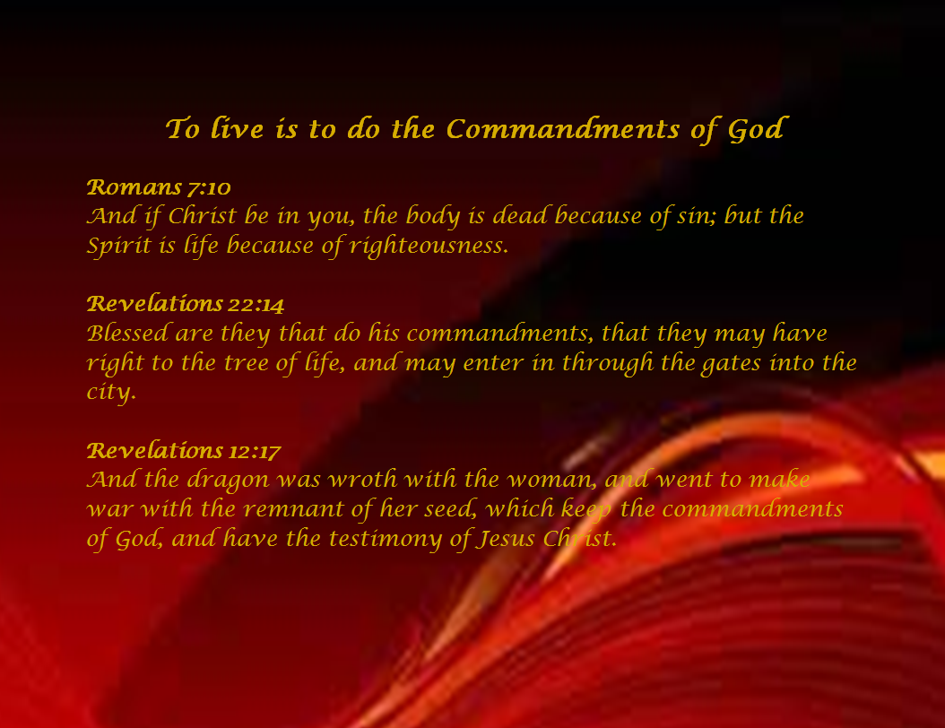 Slide of Blessed are they that do His commandments